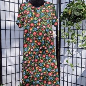 NWT LulaRoe Carly Floral Dress. Size Large